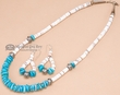 "Native American Jewelry -Necklace & Earring Set 18.5"" (148)"