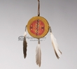 "Native American Navajo Painted Hanging Drum 4""  (80a)"