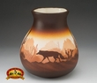 "Native American Navajo Pottery Vase 9"" -Southwest  (v215)"