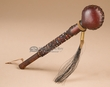 Native American Navajo Rawhide Rattle 7.25""