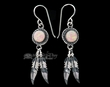 Native American Navajo Silver Earrings -Pink Opal  (ij288)