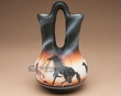 "Native American Navajo Wedding Vase 6.5"" -Horse  (83)"