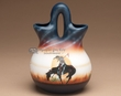 "Native American Navajo Wedding Vase 8"" -End of Trail  (178)"