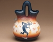 "Native American Navajo Wedding Vase 8"" -Kokopelli (v206)"