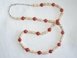 "Native American Necklace -25"" Coral & Shell (17)"
