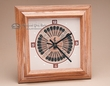 Native American Oak Clock -Sand Painting 11x11 (3)