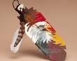 Native American Painted Cedar Feather -Creators Eyes