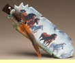 Native American Painted Cedar Feather -Running Wild