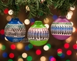 Native American Painted Christmas Ornaments- 3 Set  (o1)