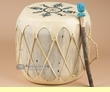 "Native American Painted Drum 13.5""x12"" -Kokopellis  (pd68)"