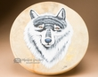 "Native American Painted Drum 16"" -Wolf  (pd33)"