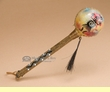 """Native American Painted Rawhide Rattle 8""""  (rs6)"""