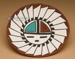 """Native American Painted Tigua Indian Plate 5""""  (72)"""