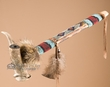 "Native American Antler Peace Pipe 13.5"" -Apache  (p26)"