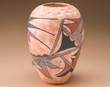 Painted Native American Pottery Vase -Hopi (134)