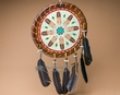 "Native American Rawhide Shield 14"" -Feathers  (29)"