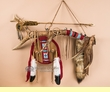 "Native American Red Ribbon Elk Medicine Antler 34"" - Tigua"