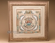 "Native American Framed Sand Painting 20""x20"" -Kachina  (sp321)"