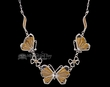 "Native American Silver Butterfly Necklace 20"" -Zuni  (ij253)"