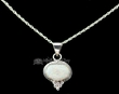 "Native American Silver Pendant Necklace 20"" -Opal  (ij269)"