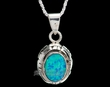 "Sterling Silver Pendant & Necklace 20"" -Navajo  (ij375)"
