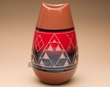 "Sioux Indian Bullet Vase 10"" -Lakota Red Glazed (p625)"