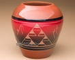 "Sioux Indian Harvest Vase 7.25"" -Lakota Red Glazed (p628)"