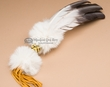 Native American Smudging Prayer Fan -Beaded  (f3)