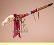 "Native American Fox Skull Spirit Stick 26"" -Tigua  (ms2)"