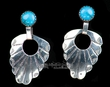 Native American Sterling Silver Earrings - (83)