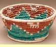 "Native American Style Basket 7.5""x3.5"" (a1)"