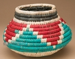 "Native American Style Olla Basket 5.5"" (a36)"