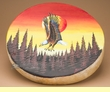 "Native American Style Painted Drum 16"" -Sunset Eagle  (pd37)"