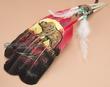 Native American Style Painted Feathers -Bear