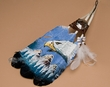 Native American Style Painted Feathers -Eagle Head  (f14)