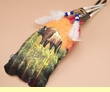Native American Style Painted Feathers -Golden Buffalo (23)