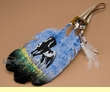 Native American Style Painted Feathers -Horse