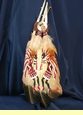 Native American Style Painted Feathers -Kokopellis