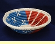 "Native American Style Saucer Basket 7.5"" (a48)"