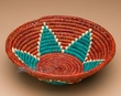 """Native American Style Saucer Basket 9"""" (a53)"""
