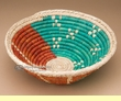 "Native American Style Saucer Basket 10"" (a53)"