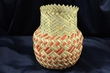 "Native American Tarahumara Indian Yucca Basket  5.5""x7.5"" (o)"