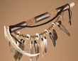 "Native American Indian Antler Pipe 15""  (p80)"