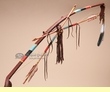 Native American Tigua Indian Beaded Bow & Arrow (ba80)