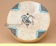 Native American Tigua Indian Painted Drum - Turtle 12""