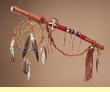 Native American Tigua Medicine Stick 30""
