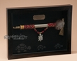 Native American Tomahawk Pipe Shadow Box (s5a)