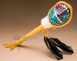 "Native American Turtle Shell Rattle 17"" -Sun Face (180)"