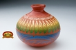 "Native American Vase 4"" - Etched Navajo Pottery  (T10)"