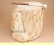 "Native Aspen Log Drum 11x12.5""  (pd39)"